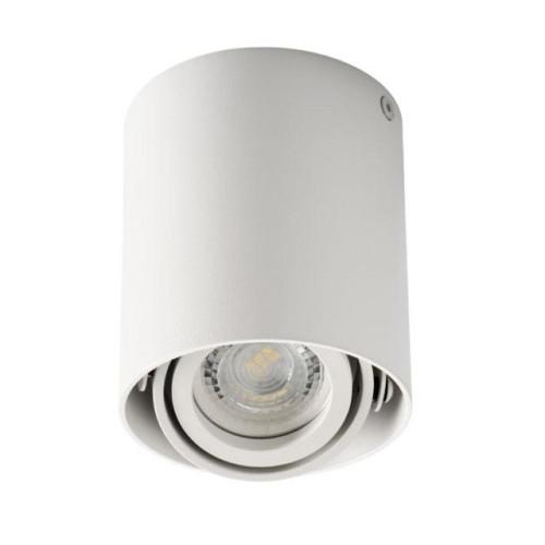 Lampada cilindrica da soffitto per GU10 - bianca