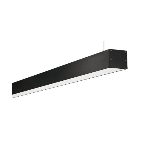 Lampada lineare a sospensione nera 150 cm 60W