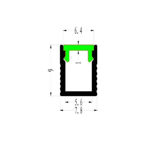 Profilo led alluminio Superslim