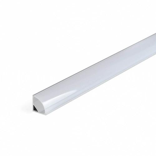 Profilo led angolare alluminio e copertura bombata opalina