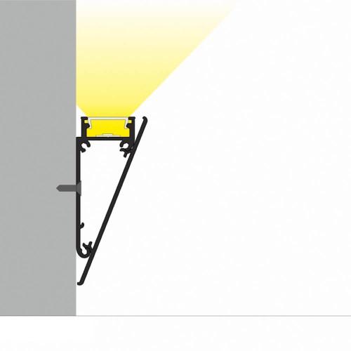 Profilo led in alluminio da parete - esempio
