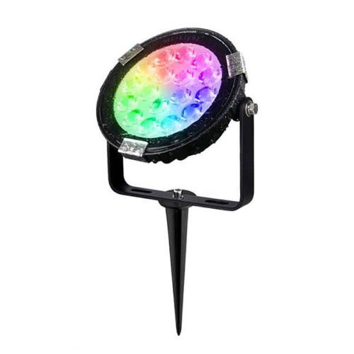 Faretto led da giardino a picchetto 9W RGB+CCT