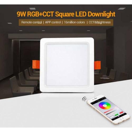 Faretto da incasso quadrato da 9W RGB+CCT