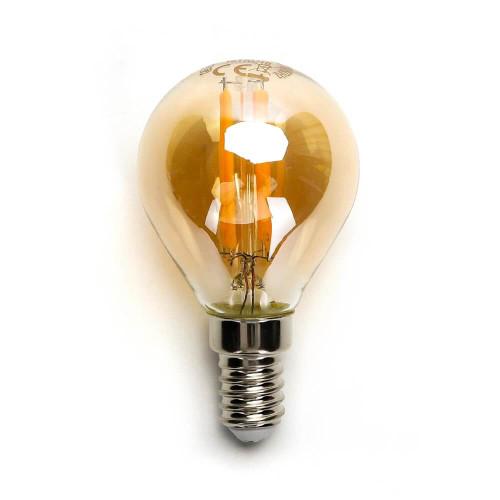Lampadina led Gold da 4W a filamento con attacco a vite E14
