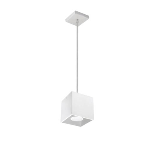 Lampada pendente da soffitto a cubetto bianca