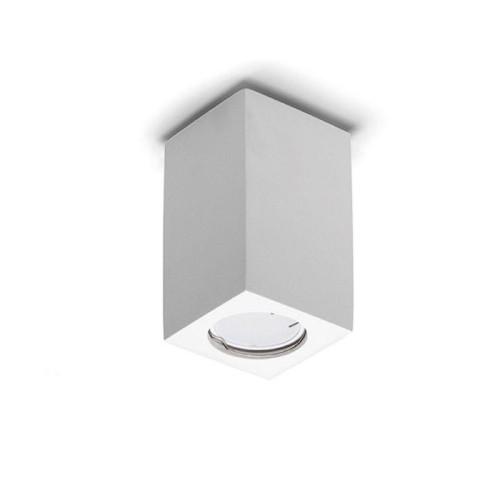 Lampada da soffitto a cubo in gesso