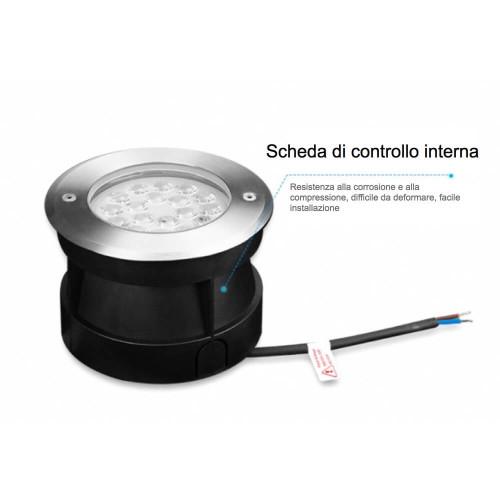 Faretto calpestabile 9W RGB-CCT Lora