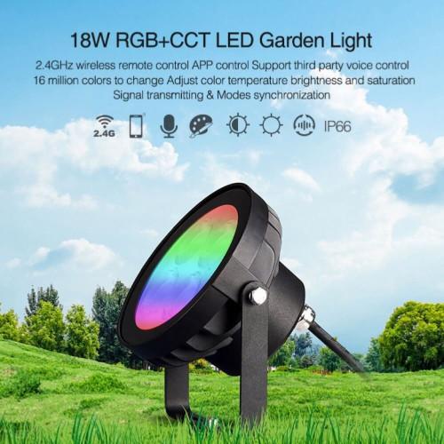Faretto led da giardino a picchetto 18W RGB+CCT