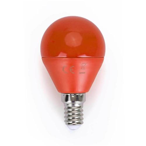 Lampadina Led colorata 4W E14 arancio