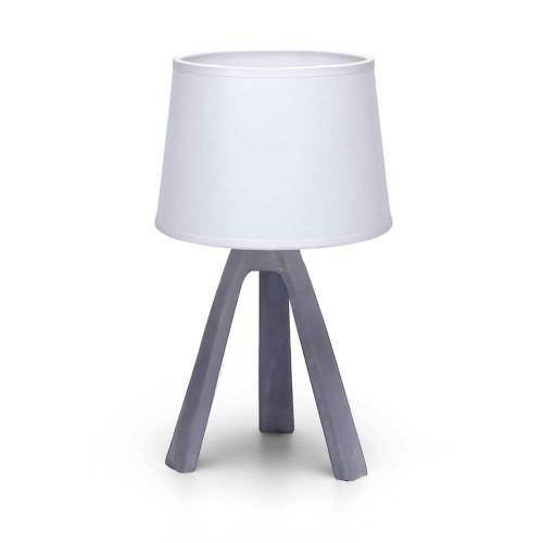 Lampada da tavolo in resina colore wengè
