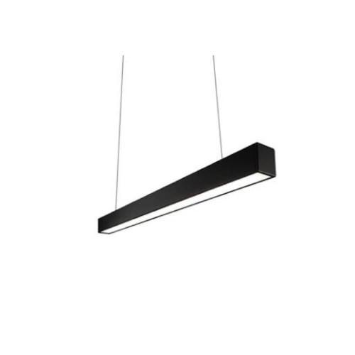 Lampada lineare a sospensione 120 cm 40W nera