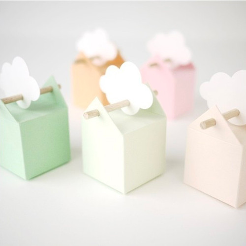 6 pastellfarbene Bomboniere: einfach sanft, süss und zart