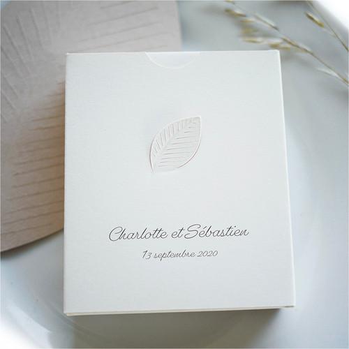 Personalisierte Blatt-Box, Hochzeit Gastgeschenk