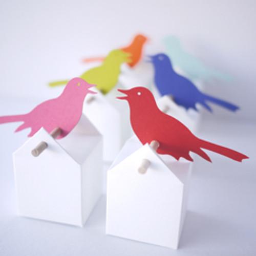 Trillernder Singvogel Etikett
