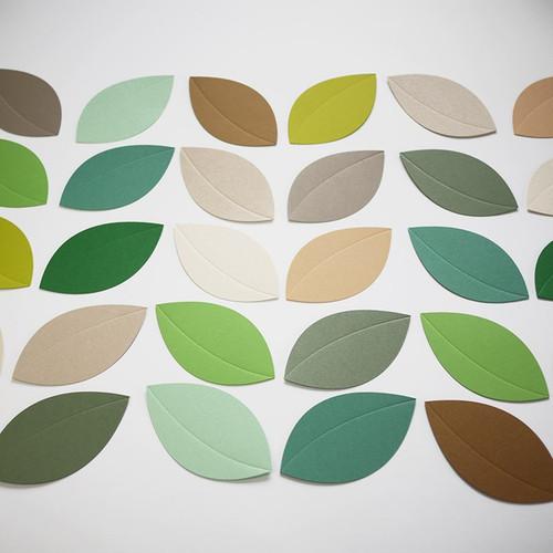 Blatt-Baum Tischkarte und Tischdekoration