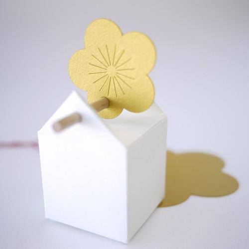 Pflaumenblüte Etikett