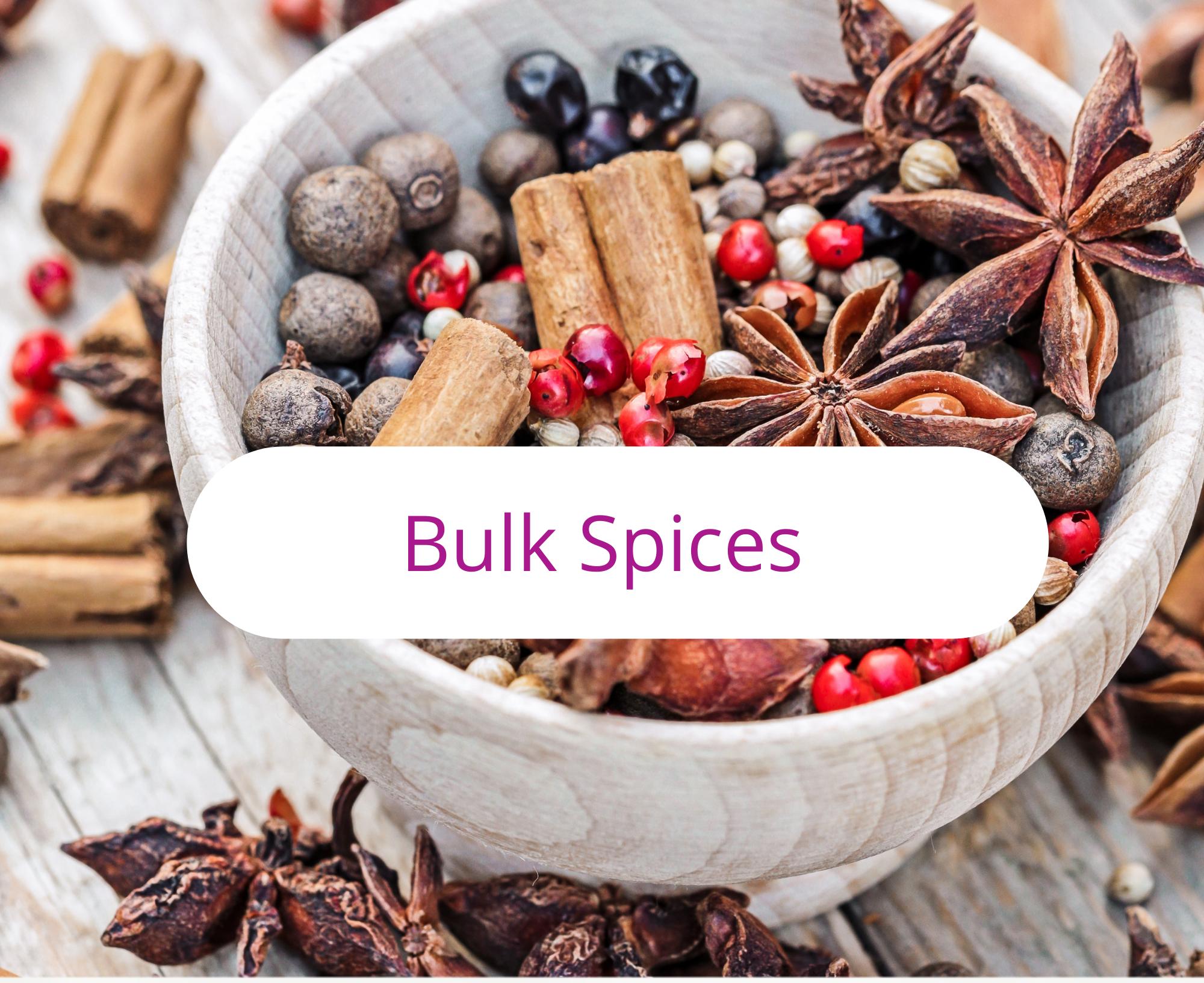 Spices, Bulk Spices, Chai Spices