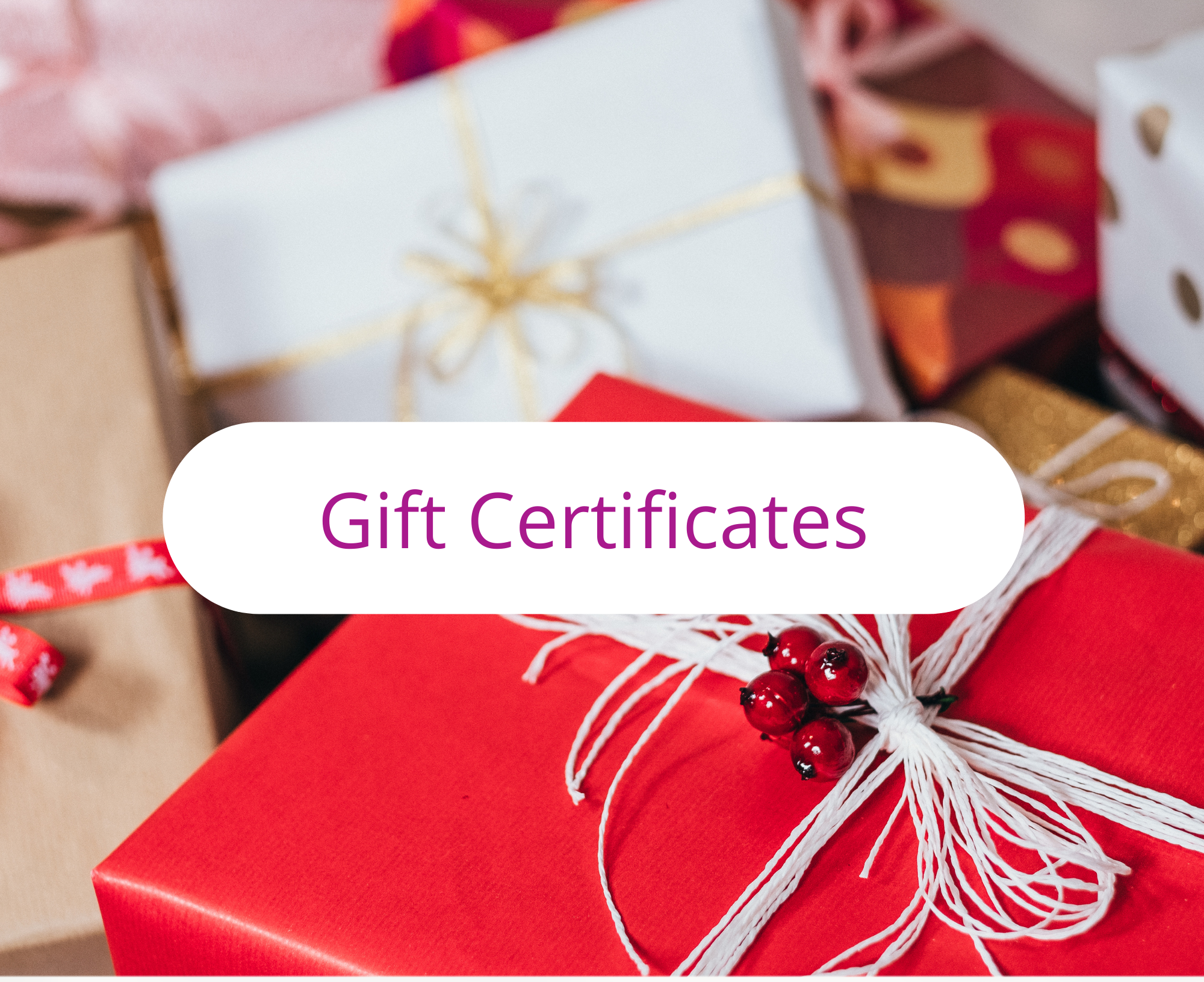 Gift Card, Gift Certificates