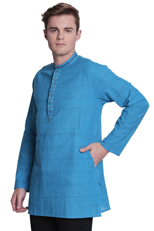 "Traditional Pure Cotton White Tunic Shirt 17.5/"""