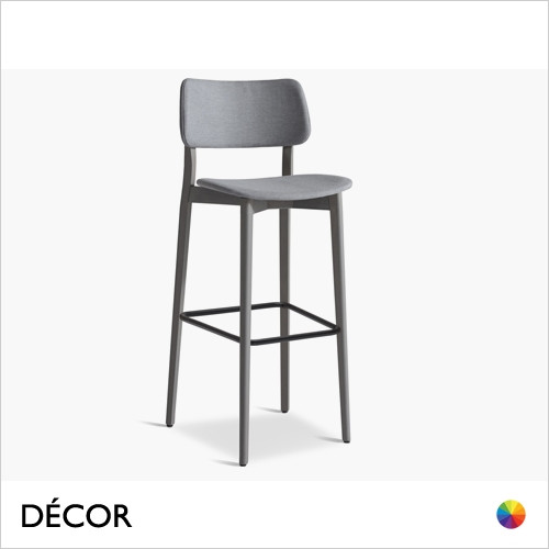 1A1 Uli Bar Stool with Tapered Wooden Legs in Designer Fabrics & Eco Leathers, Bar & Counter Heights - Made for You - Décor for Home & Business