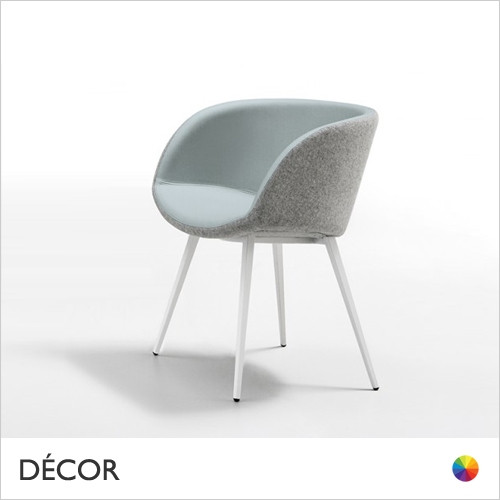 A1 Sonny Dining Chair with High Wrap-Around Armrests & Tapered Metal Legs - In Designer Fabrics & Eco Leathers - Made for You - Décor for Home