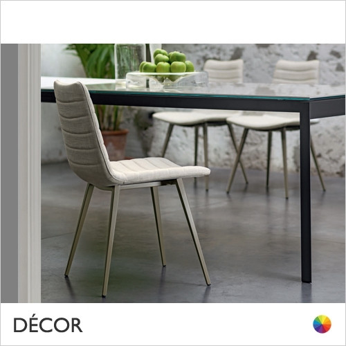 A1 Cover Dining Chair with Tapered Metal Legs - In Designer Fabrics & Eco Leathers - Made for You - Décor for Home & Business