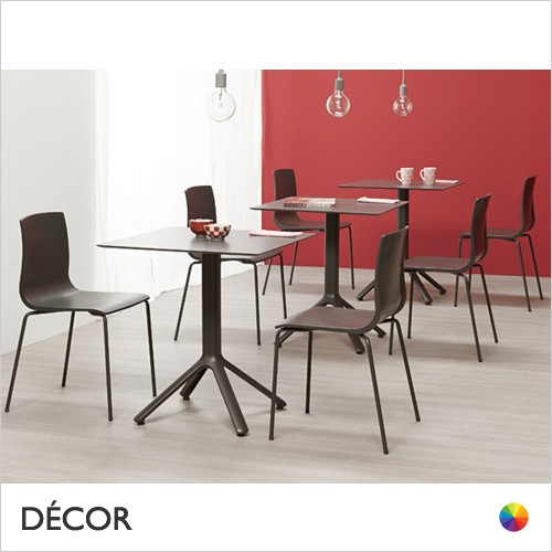 A2 Nemo Fixed Dining Table Base - Add Square or Round Compact Laminate Tops in a Range of Sizes & Finishes - Décor for Business