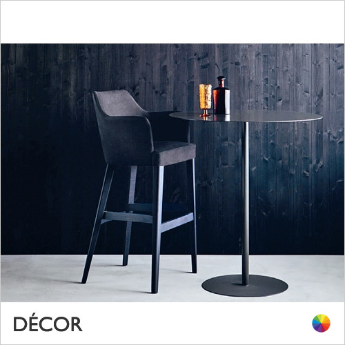 A1 Oscar Bar Stool with Tapered Wooden Legs in Designer Fabrics & Eco Leathers, Bar & Counter Heights - Made for You - Décor for Business