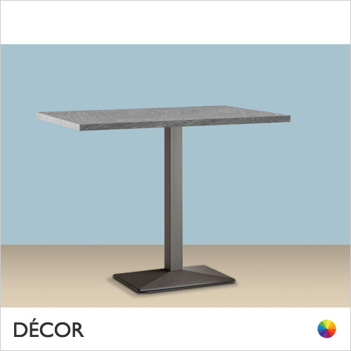 11A1 Quadra Rectangular Table Base - Add Rectangular ABS Laminate Tops in a Range of Sizes & Finishes - Décor for Business