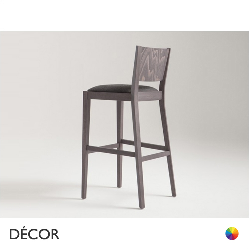 Soko Bar Stool with Tapered Wooden Legs in Designer Fabrics & Eco Leathers, Bar & Counter Heights - Made for You - Décor for Home & Business