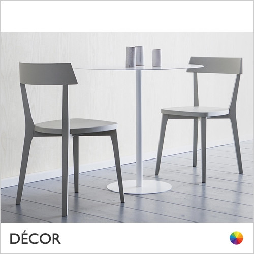 Ariston Dining Chair with a Solid Wooden Seat - In Coloured Designer Lacquers & Wood Finishes - Décor for Home