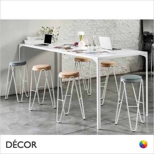 Apelle Jump Bar Stool, Bar & Counter Height - In Designer Fabrics & Eco Leathers - Made for You - Décor for Home & Business