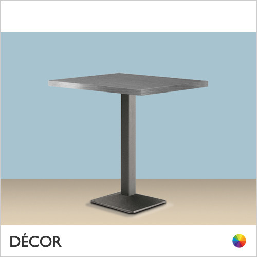 11A Quadra Square Table Base - With Square 30mm Thick Laminate Tops in a Range of Sizes & Finishes - Décor for Business