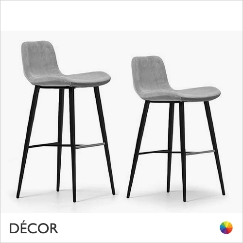 A1 Dalia Bar Stool with Tapered Metal Legs, Bar & Counter Height - In Designer Fabrics & Eco Leathers - Made for You - Décor for Home & Business