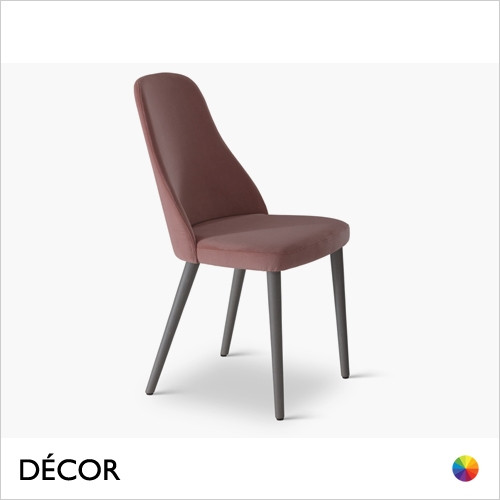 Anya Dining Chair with a Round or Square Seat in Designer Fabrics & Classic Eco Leathers - Made for You - Décor for Home
