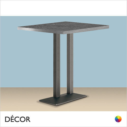 Quadra Twin Column Rectangular Poseur Table Base - With Rectangular 30mm Thick Laminate Tops in a Range of Sizes & Finishes - Décor for Business
