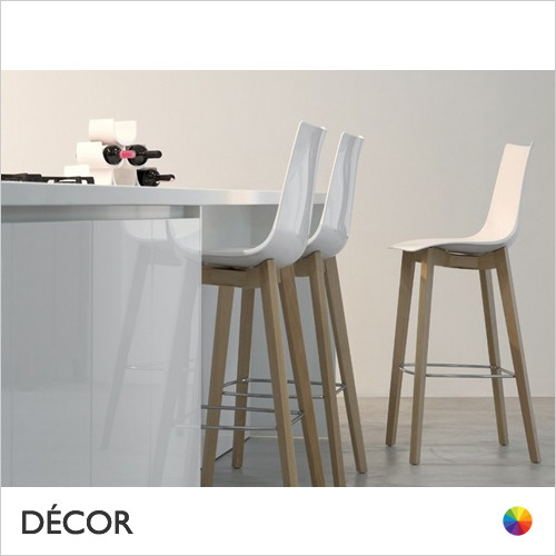 Natural Zebra Antishock Bar Stool, Natural Beech & Wenge Stained Beech  - Décor for Business