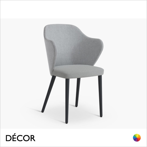 Page Dining Chair with a Round or Square Seat in Designer Fabrics & Classic Eco Leathers - Made for You - Décor for Home