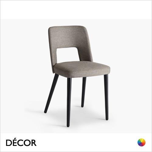 Uma Dining Chair with a Round or Square Seat in Designer Fabrics & Classic Eco Leathers - Made for You - Décor for Home