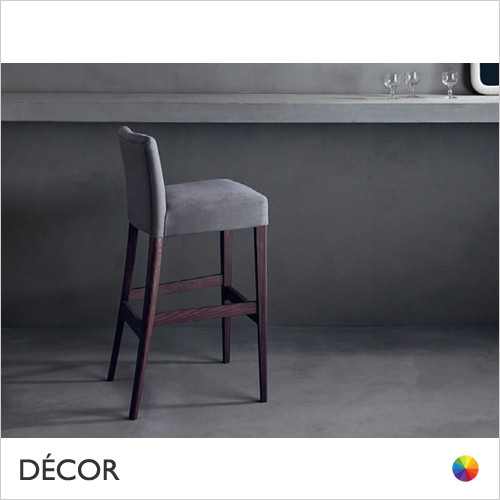 Noblesse Bar Stool in Designer Fabrics & Eco Leathers - Made for You - Décor for Business