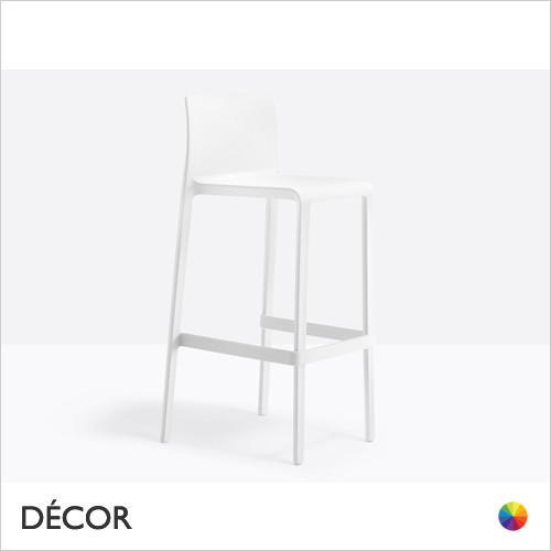 Volt Stackable Bar Stool, Bar & Counter Height - In Designer Colours & Neutral Tones - Décor for Business