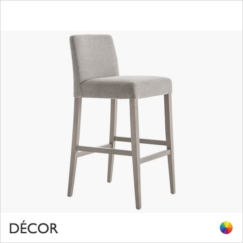 1A1 Miss Bar Stool in Designer Fabrics & Classic Eco Leathers with Tapered Wooden Legs, Bar & Counter Height - Made for You - Décor for Home & Business