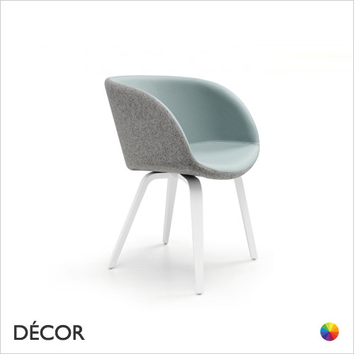 B2  Sonny Tub Chair with Armrests and Bentwood Legs - In Designer Fabrics & Eco Leathers - Made for You - Décor for Home & Business