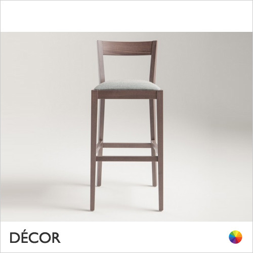 1A1 Silla Bar Stool with Tapered Wooden Legs in Designer Fabrics & Eco Leathers, Bar & Counter Heights - Made for You - Décor for Home & Business