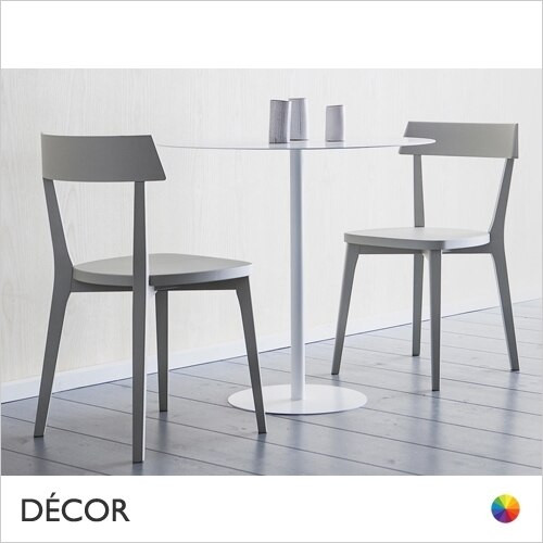1A1 Ariston Dining Chair with a Solid Wooden Seat - In Coloured Designer Lacquers & Wood Finishes - Décor for Business