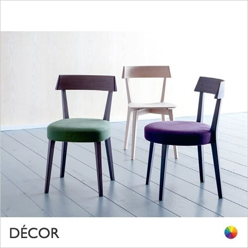 11A1 Ariston Soft Dining Chair with a Round or Square Deep Upholstered Seat in Designer Fabrics & Eco Leathers - Made for You - Décor for Home