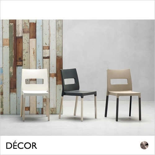 11A1 Maxi Diva Natural Canteen Dining Chair with Solid Beech Legs - In Designer Colours & Neutral Tones - Décor for Business