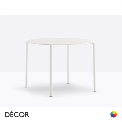 A1 Jump Stackable Round Table with 4 Legs & a Powder-Coated Frame and a Compact Laminate Top, 2 Sizes - In Designer Neutral Tones - Décor for Business