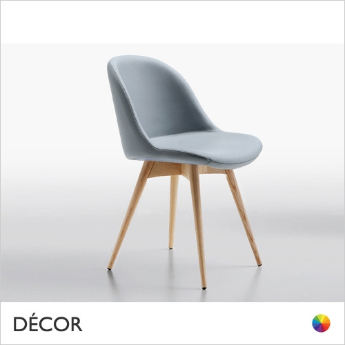 B2 Sonny Dining Chair with Tapered Wooden Legs - In Designer Fabrics & Eco Leathers - Made for You - Décor for Home & Business