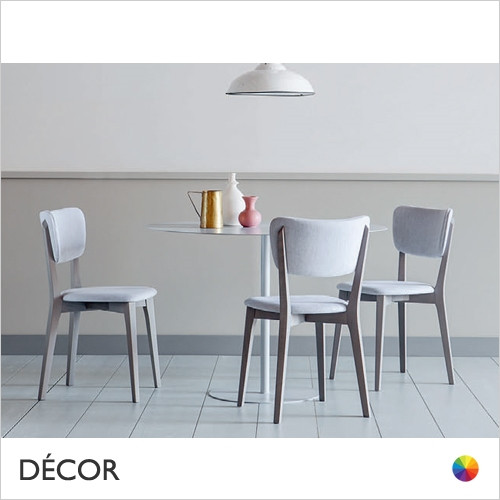 1A1 Capitol Dining Chair with a Slim Upholstered Seat in Designer Fabrics & Eco Leathers - Made for You - Décor for Home